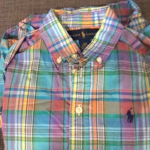 4 Polo boys long sleeve button up